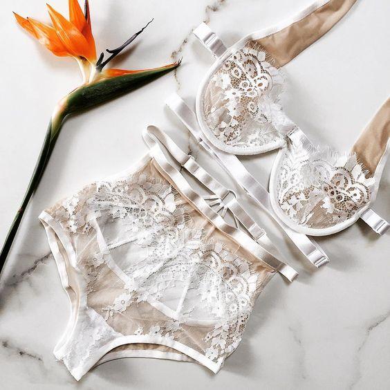New Perfect set • TWILIGHT MAUVE •    #white #jia_atelier #lingerie #bride