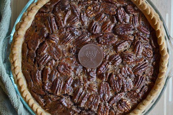 Chocolate Gelt Pecan Pie