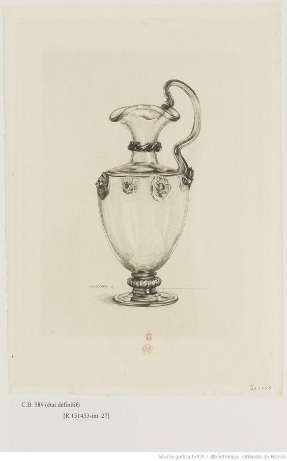 [Vase à anse en verre de Venise] : [estampe] / H. Guérard sc.   Gallica