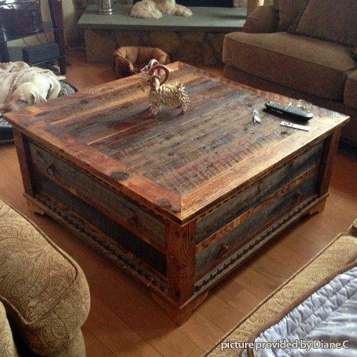 Country Roads Alder Wood Coffee Table Rusztikus Otthon Asztal