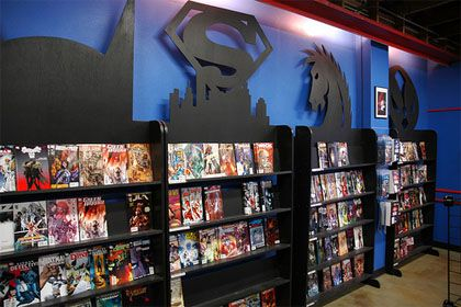 someday we 39 ll have a whole room like this comic books. Black Bedroom Furniture Sets. Home Design Ideas