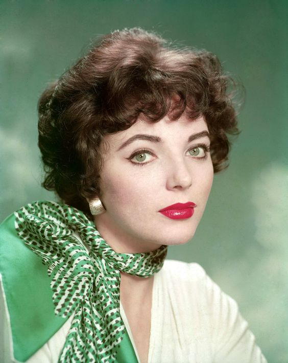 A typically stunning studio portrait of Joan Collins from the mid-1950s