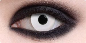 'Crazy White' special effects contact lenses. $24.99 So cool for Halloween!