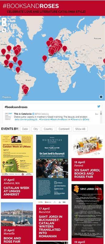 """El DIPLOCAT presenta """"Books & Roses"""", actes de la Diada de Sant Jordi arreu del món"""