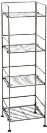 AmazonSmile - Seville Classics 4-Tier Iron Sqaure Tower Shelf -