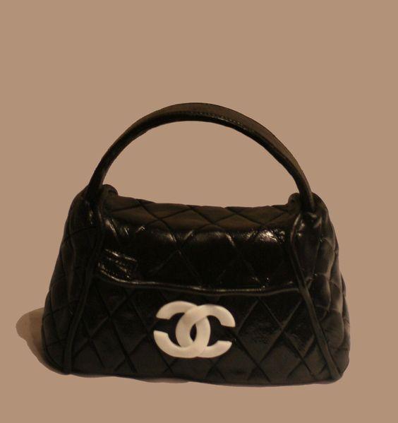 Rice Krispy/Gumpaste Chanel Handbag