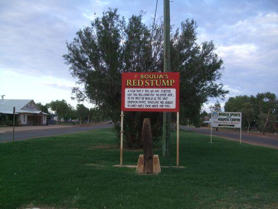 Boulia's Red Stump - Edge of the Simpson desert.