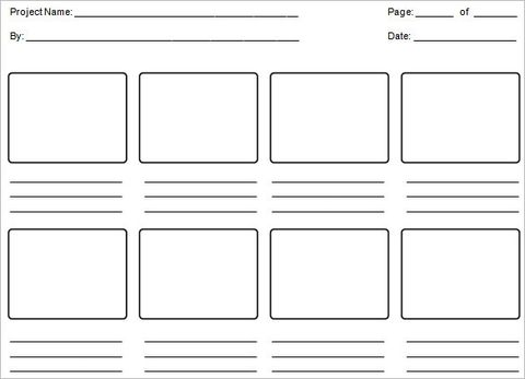 Education Storyboard Template 6 Free Word Pdf Format Download