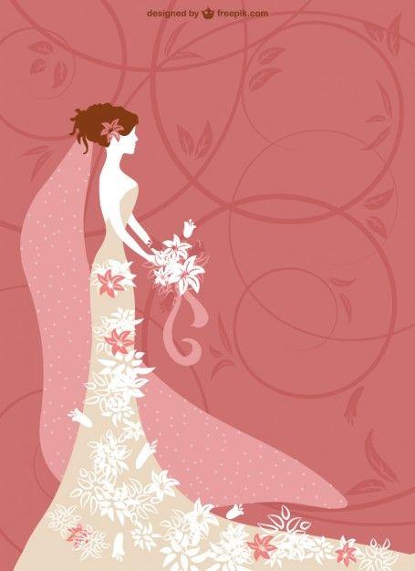 tarjeta de boda de vectores de fondo Vector Gratis
