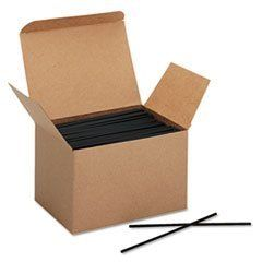 "Boardwalk® ST-S52E-10-LAG - COFFEE STIR STICKS, 5 1/4"", PLASTIC, BLACK, 1000/BOX by Boardwalk. $5.32. Food Service Supplies. Breakroom And Janitorial. When it's time for a coffee break, stir it up with plastic stir sticks. Material(s): Plastic; Color(s): Black; Size: 5 1/4""; Assortment: N/A."