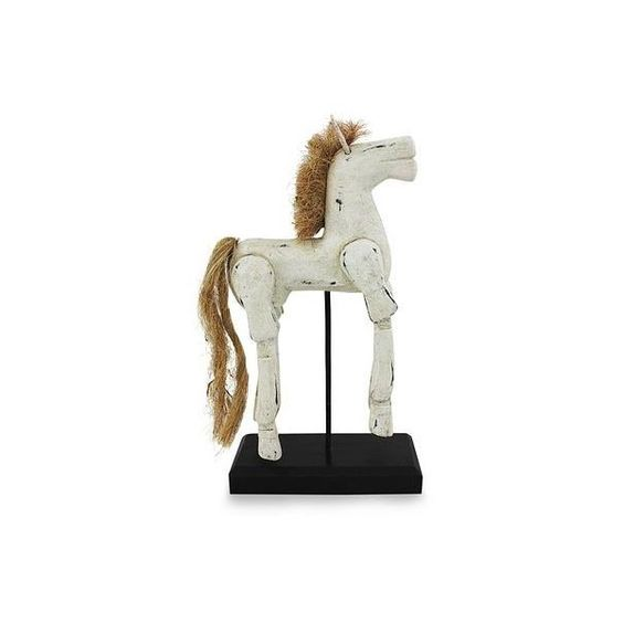 NOVICA Horse Wood Sculpture Artisan Crafted with Antique Look ($70) ❤ liked on Polyvore featuring home, home decor, clothing & accessories, sculpture, white sculpture, vintage style home decor, black sculpture, handmade home decor and wooden sculptures