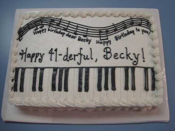 Piano Lavoro Cake Design : Piano sheet cake - For a music teacher. Thanks to ...