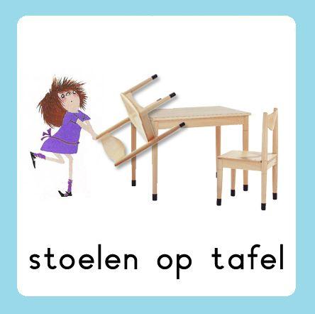 Daglijn Floddertje: stoelen op tafel