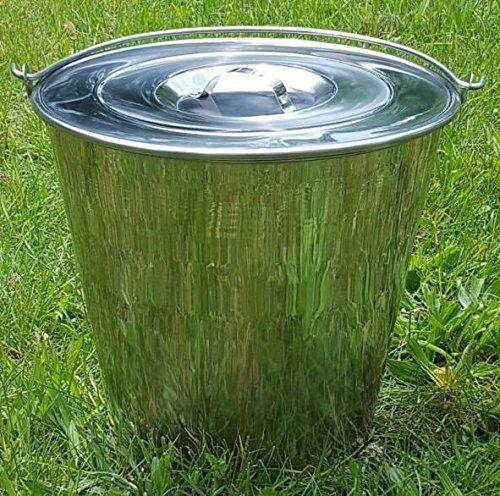 Stainless Steel Bucket Pail 2 Qt Dog Kennel Farm Water Milk Feeding Heavy Duty