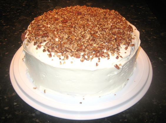 Carrot Cake W/ Pecan Filling & Cream Cheese Icing | Recipe | Carrot ...