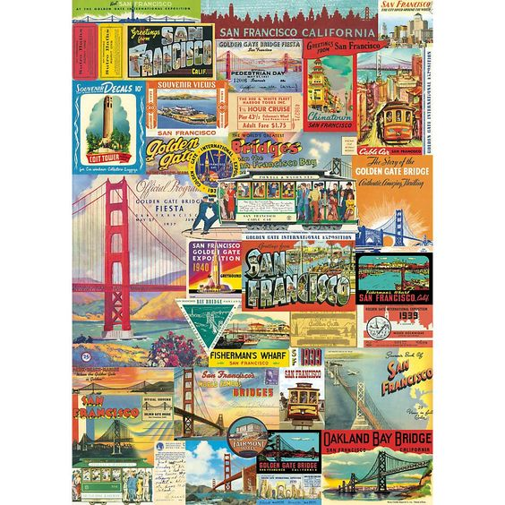 Cavallini San Francisco Wrapping Paper - Paper Source