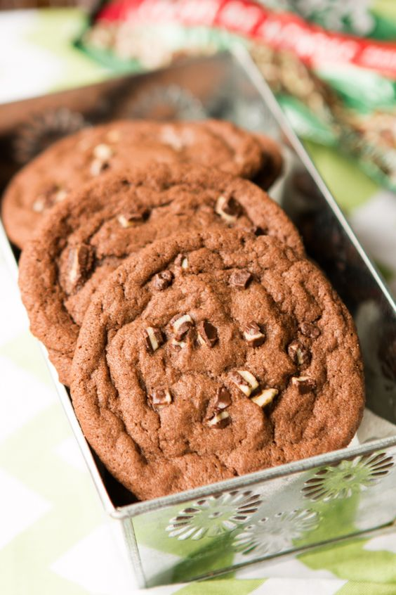 Andes mint cookies recipe on package