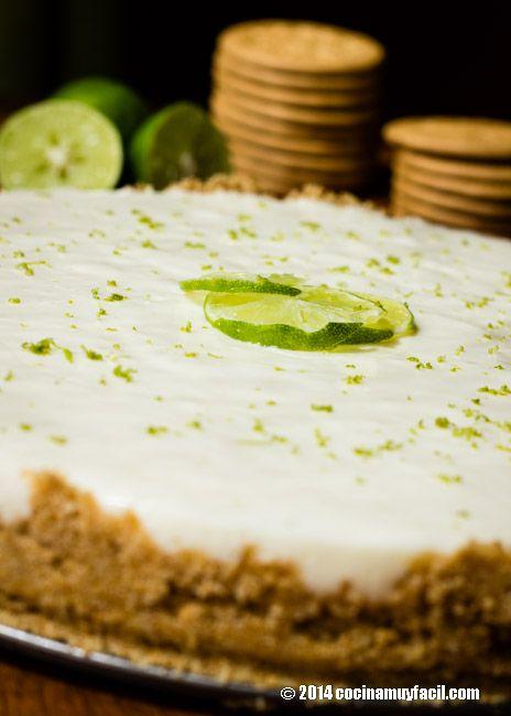 Pay de lim n receta recipe recetas cream and pies - Postres con queso de untar ...