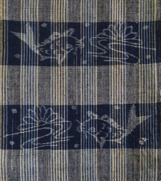 Kasuri, Indigo and Stripes  Sri - Beautiful 19th Century Egasuri: San'in Weaving