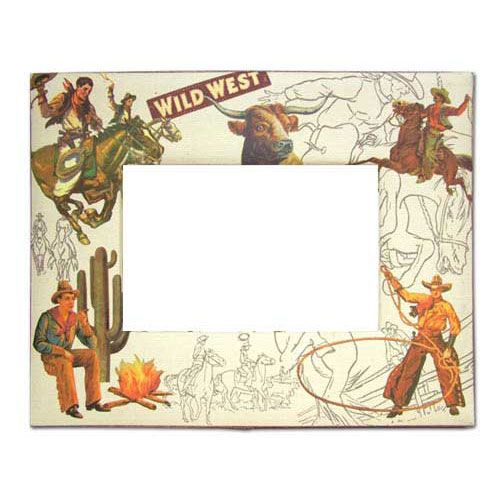 Western Cowboy Picture Frame