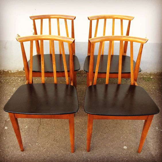 1960's Elliotts of Newbury set of four vintage Dining Chairs. Retro/Mid Century by EraBrighton on Etsy https://www.etsy.com/listing/225295580/1960s-elliotts-of-newbury-set-of-four