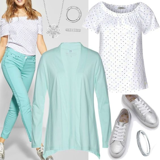 Hose mit Stickerei - neo mint Grün CECIL Women Outfit für Damen zum Nachshoppen auf Stylaholic #outfits #styleinspiration #outfitideas #look #lookoftheday #fashion #trending #style #clothing #mode #damenmode #bekleidung #stylaholic #outfit #sexy #elegant #casual #fashion