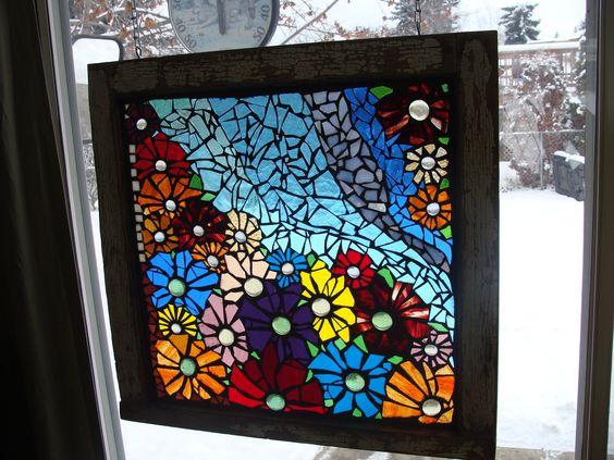 Mosaic Flower Window