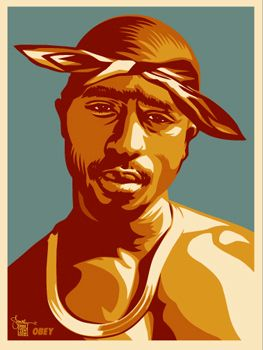 Tupac Red by Shepard Fairey