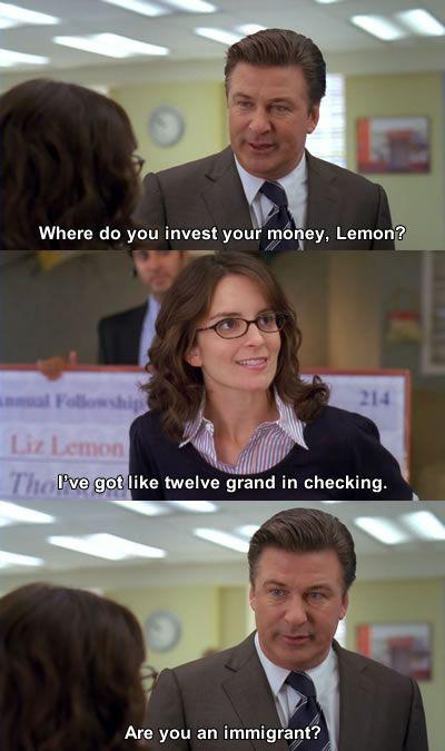 "That time when Jack gave Liz financial advice. | 30 Best Jokes From ""30Rock"""