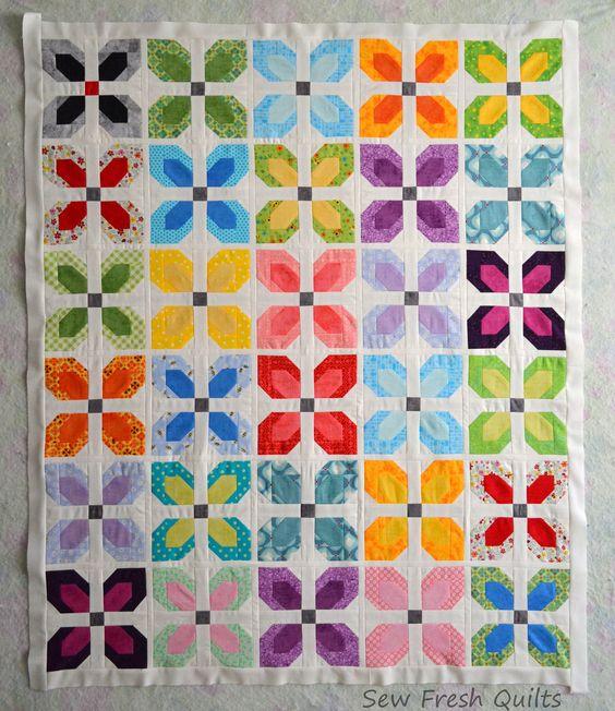 Little Blooms baby quilt top