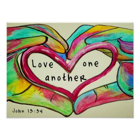 LOVE ONE ANOTHER POSTER Bible Verse Posters
