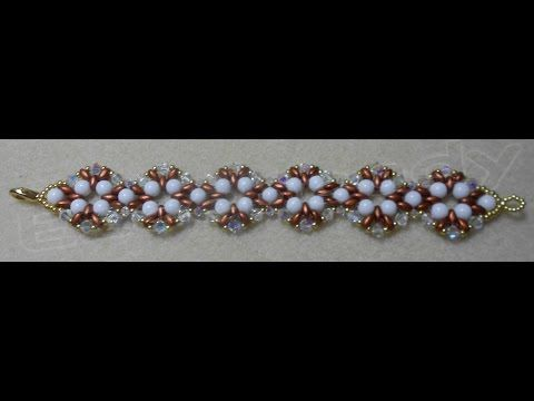 Rounduo Diamonds Bracelet Beading video Tutorial by Ezeebeady - YouTube