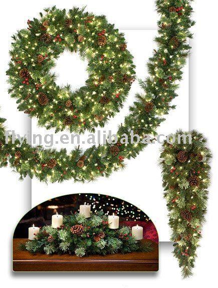 swags wreaths christmas | Guirnalda de la Navidad, guirnalda, lágrima, swag-Adornos navideños ...
