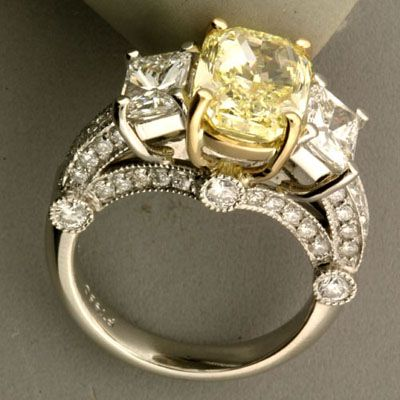 Radiant Yellow Diamond  I have always loved the Yellow Diamonds. And this one is so lovley. Bling, Bling, Bling!!