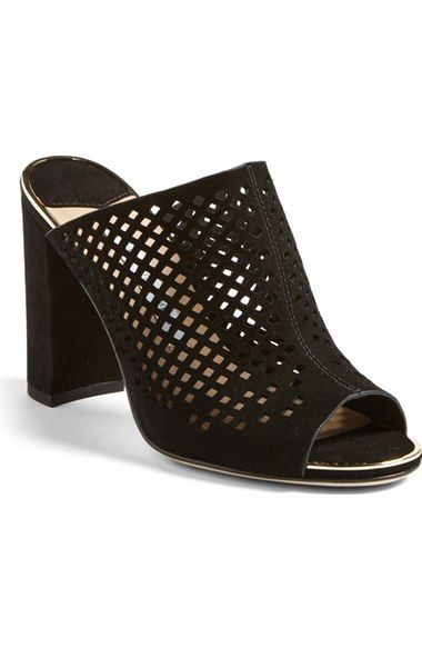 Diane von Furstenberg 'Taviano' Peep Toe Mule (Women) available at #Nordstrom