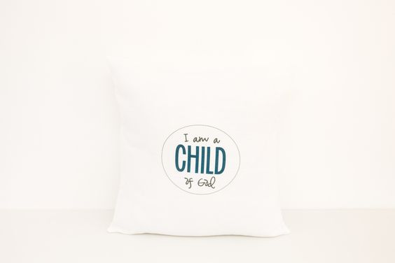 I am a Child of God Pillow | 18x18 Pillow Cover | LDS Gift | Baptism Gift | Primary | Mormon | Baby Shower | Religious Gift | Christianity