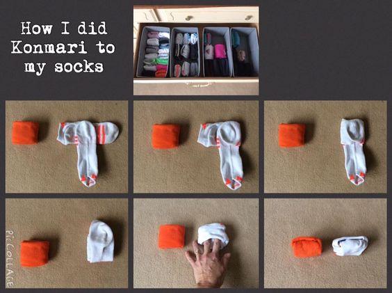 for SHORT + VERY SHORT SOCKS.  Like yoga socks, tennis socks, golf socks, pilates socks.  Tidying Up the KonMari Way: Sock Folding