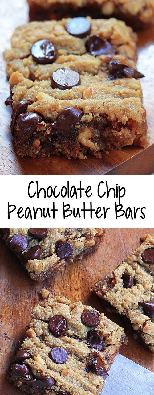 Keto Chocolate Chip Peanut Butter Bars