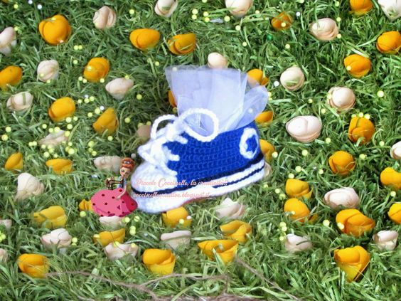 #Scarpette a #uncinetto #crochet stile #converse per #bimbi #children #primipassi #childrenshoes #scarpettebimbi #scarpe #shoes #bomboniere #bonbonniere #confettata #pelleted #followme #hobby #handmade #fattoamano, solo sul mio #blog #coccinellecreative http://coccinellecreative.blogspot.it/2014/05/scarpe-uncinetto-crochet-stile-converse.html