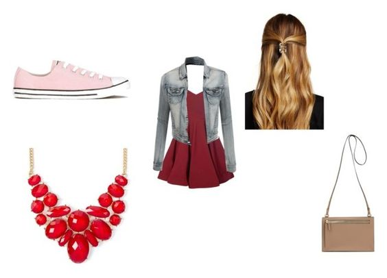 """""""Fall dayz"""" by emr1d ❤ liked on Polyvore featuring Glamorous, LE3NO, Natasha Accessories and Converse"""