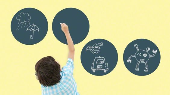 Set of 4 Chalkboard Circles. Would be great for a mudroom or kitchen. Could write shopping lists or menus.