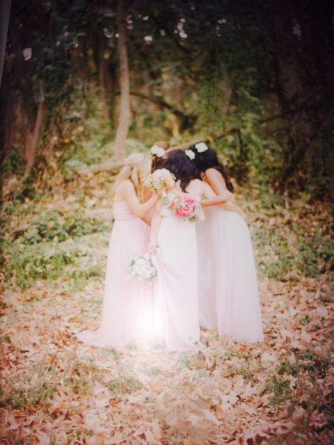 bridesmaid huddle