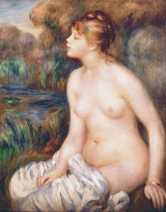 Seated Female Nude, Pierre Auguste Renoir