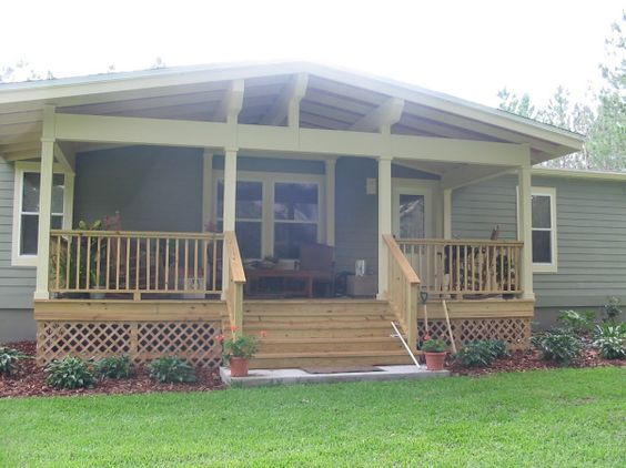 Here 39 S A Fabulous Front Porch Design For A Mobile Homes