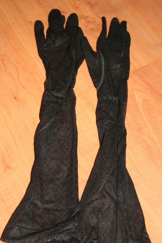 Zwarte kanten handschoenen