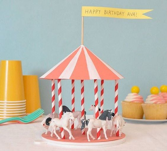 Diy Spinning Carousel Centerpiece Party Time Excellent