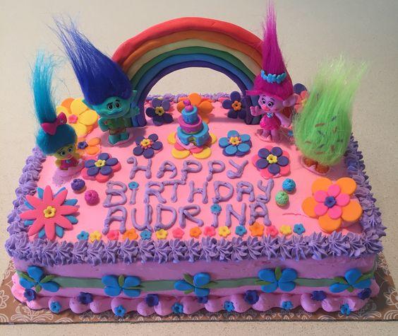 Poppy Troll cake: