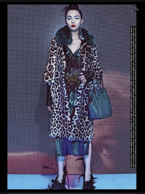 Models gets edgy in furs for Vogue Italia June 2015 shot by Steven Klein [Fashion]