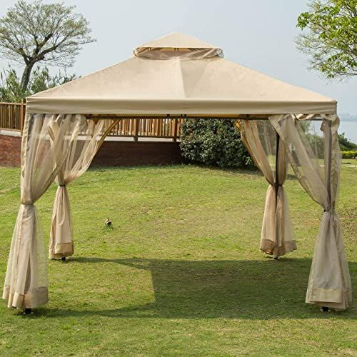 Buy Sunnyglade 10 X10 Gazebo Canopy Soft Top Outdoor Patio Gazebo Tent Garden Canopy Your Yard Patio Garden Outdoor Party Online Gotopratedseller In 2020 Gazebo Tent Gazebo Canopy Patio Gazebo