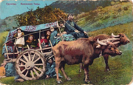 Types du Caucase - Georgian Family on Arba | Flickr - Photo Sharing!